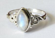 925 STERLING SILVER RAINBOW MOONSTONE RING SILVER RING SIZE 5 6 7 8 9  R11MN
