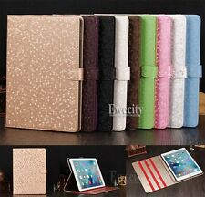 Luxury Folio Diamond Pattern Leather Flip Stand Smart Case Cover For Apple iPad