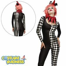 Fever Harlequin Jester Costume- Adult Woman Outfit Fancy Dress