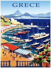 38.Art Decoration POSTER.Graphics to decorate home office. Grece Travel Poster.