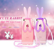 CUTE Soft Bunny Rabbit TPU Back Protector Phone Cover Case Skin For Apple iPhone