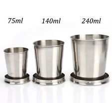 Outdoor Camping Stainless Steel Travel Folding Collapsible Cup Portable Bottle