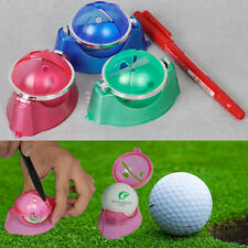 HOT Golf Ball Linear Line Marker Template Drawing Alignment Tool + Pen Kit Sport