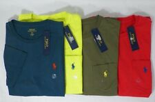 POLO RALPH LAUREN MENS COTTON CREW-NECK T-SHIRT SOLID TEE SZ S OR M  -NWT