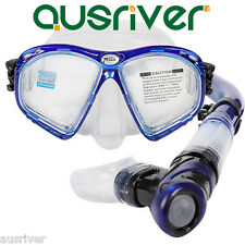 Swimming Scuba Mask Diving Snorkel Protective Goggles Set Tempered Glasses