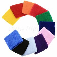Unisex Sports Cotton Wrist Sweat Band Sweatband Tennis Badminton Wristband Gift