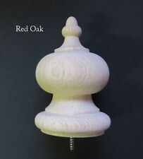 Wooden Finial-bedpost-stair newel 6 1/4 Tall. Wood Choices-Oak Maple Cherry #64