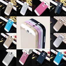 New Aluminum Metal Bumper + Hard Back Cover For Samsung Galaxy Phone Case Cover