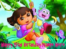 Dora Explorer personalised edible icing cake topper with loot bags + balloons