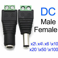 4/6/50 x DC Power Jack Adapter Plug Male Female Connector 2.1x5.5mm For CCTV DVR