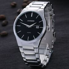Original CURREN Mens Sport Stainless Steel Band Date Military Quartz Wrist Watch