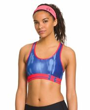 UNDER ARMOUR WOMENS ALPHA PRINTED HEATGEAR SPORTS BRA BLUE SZ L #1246962-NWT