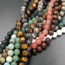 "Wholesale Lot Natural Gemstone Round Spacer Loose Beads 4mm 15.5"" Free shipping"