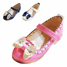 Kid girls princess shoes Child Mary Jane bow knot Dress Ballet Dance Wedding