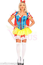 Ladies Costume Fancy Dress Up Deluxe Snow White Princess (8799) S6,8,10,12,14,16
