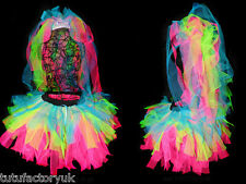 DESIGN YOUR OWN NEON BRIDE TO BE TUTU SET NEON VEIL TIARA HEN NIGHT NEON TUTU