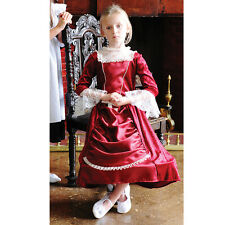 GIRLS KIDS CHILDS DELUXE VICTORIAN EDWARDIAN LADY COSTUME DRESS OUTFIT AGE 3-5-8