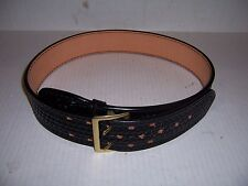 FULLY LINED SAM BROWN DUTY BELT BROWNE BASKETWEAVE LEATHER POLICE BASKET WEAVE