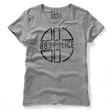 883 Police Mens Miller Marl Grey Graphic T-Shirt Short Sleeve Tee Top Casual