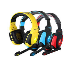 EACH G4000 USB PRO Gaming Headset Stereo Surround Headphone LED with Mic for PC