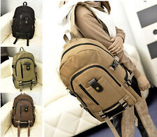 Men Women Vintage Canvas Backpack School Bag Travel Satchel Campus Book Bags New