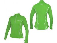 More Mile Vancouver Womens Thermal Hi-Viz Running / Gym / Exercise Top Green