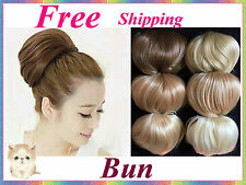 Elegant Bun Hair Extension Piece~Multi color for Bride Wedding Party DIY Fashion