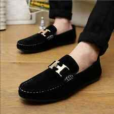 New Mens Casual Suede Slip Ons Loafers Driving Moccasins Breathability Shoes Q01