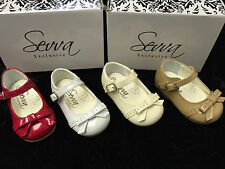 NEW DESIGN SEVVA BABY-INFANT FIRST WALKING PATENT SPANISH STYLE/PARTY BOW SHOES