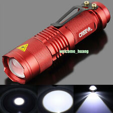 10X UltraFire flashlight CREE 300LM LED Mini Torch Lamp Light camp Red AA 14500