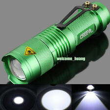 10 X UltraFire flashlight CREE 300LM LED Mini Torch Lamp Light camp Green 14500