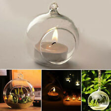 Home Bar Romantic Wedding Party Dinner Decor Hanging Crystal Glass Candle Holder