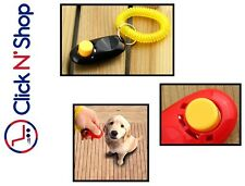 Dog Training Clicker Pet Puppy Obedience Trainer Aid Red Blue Black Pink White