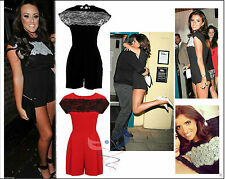 New Womens Celebrity Inspired Lace Party Playsuit Romper Jumpsuit Dress
