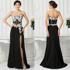 CHIFFON & Lace Wedding Long Cocktail Prom Dress Formal Evening Gowns Party Dress
