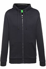HUGO BOSS BY BOSS GREEN MEN'S HOODED ZIP UP SWEATSHIRT SAGGY SPORTS JACKET NAVY