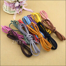 """8 Strands Manmade Leather Suede Rope/Cord/Necklace 110cm(43"""") 12Colors-1 R0155"""