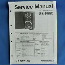 ORIGINAL TECHNICS HI FI SERVICE MANUALS Various