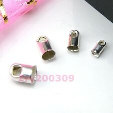 Silver Plated Blunt Necklace End Tip Bead Cap 2.4mm,3.2mm,4mm,5mm R0043