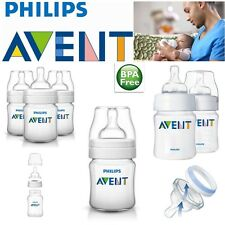 Avent Classic Newborn Anti-Colic Baby Feeding Milk Bottle Silicone Teat 125ml