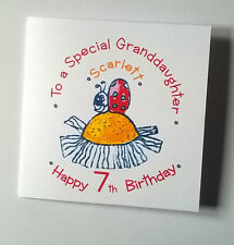 Lovely Personalised Handmade Ladybird Birthday Card,1st 2nd 3rd 4th 5th 6th 7th