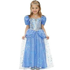 Princess Blue Children's Costume Childrens Fancy Dress Fairy Girl Fairytale
