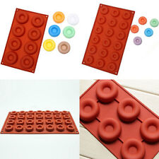 8/18-Cavity Donut Doughnut Baking Mold Cake Chocolate Candy Soap Silicone Mould