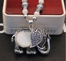 Women's Ethnic Korean exaggerated necklace sweater chain necklace opal jewelry