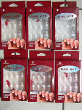 Kit 12 faux ongles french manucure avec colle et lime neuf ladydjou