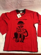 Eliane Et Lena Red & Black Sherlock Holmes Long Sleeve T-Shirt NWT