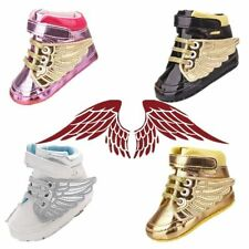 Toddler infant unisex Soft wings boots prewalker Crib Shoes for baby to 18m #QTM