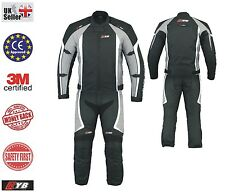 Waterproof Motorcycle Motorbike Bike Rider Textile Jacket Trouser 2 piece Suit