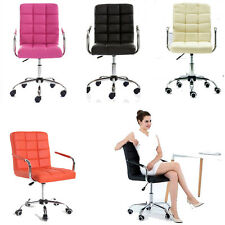 Quality PU Leather Swivel  Office Chair Furniture Computer Desk Office Bar Chair