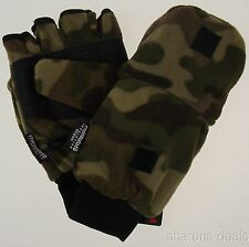 Camo Athletech Convertible Gloves Mittens 3M Thinsulate Mens Plush Winter Snow